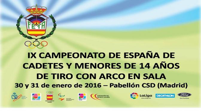 GRAN EXITO DE LA SELECCION DE EUSKADI EN EL IX CAMPEONATO DE ESPAÑA EN SALA DE CADETES Y MENORES 14 AÑOS – MADRID 2016.