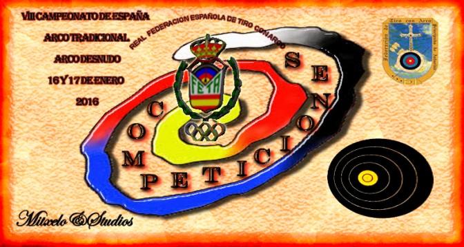 Resultados del VIII Campeonato de España en Sala de Arco Tradicional y Arco Desnudo 2016
