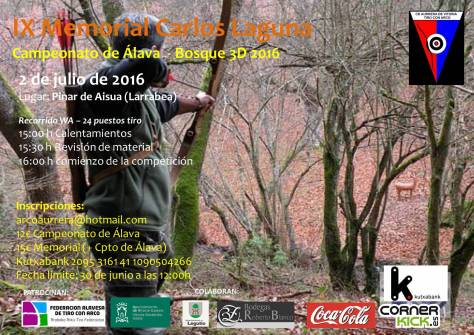 Cartel Cpto Alava 3D 2016-IX Memorial Carlos Laguna