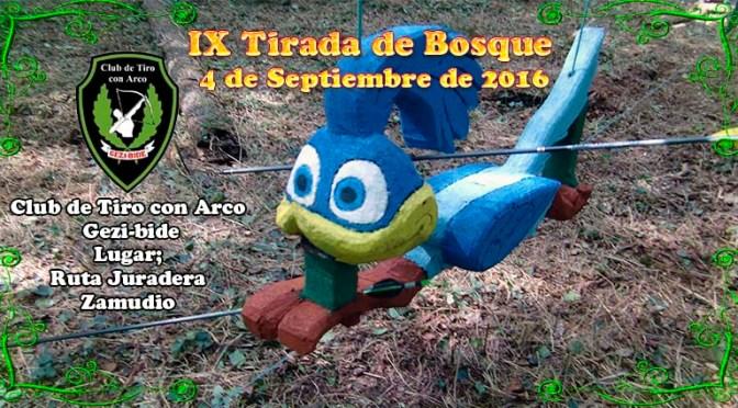 Resultados de la IX Tirada de Bosque Gezi-Bide 2016.