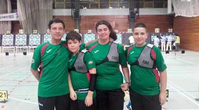 Los Arquer@s  Beñat Barcina, Maider García y Aimar Machío siguen destacando.