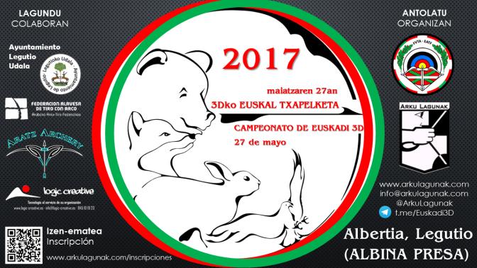 Resultados del Campeonato de Euskadi de Bosque 3D- 2017.