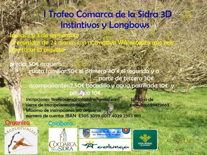 I TROFEO COMARCA DE LA SIDRA 3D (INSTINTIVOS Y LONG-BOWS)