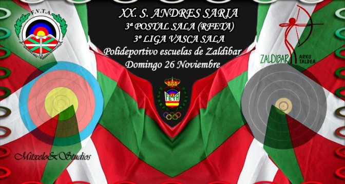 SORTEO DE DIANAS DEL XX TROFEO SAN ANDRES SARIA 3ª POSTAL SALA (RFETA) – 3º LIGA VASCA SALA-2017