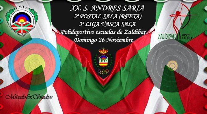 RESULTADOS DEL XX TROFEO SAN ANDRES SARIA 3ª POSTAL SALA (RFETA) – 3º LIGA VASCA SALA-2017