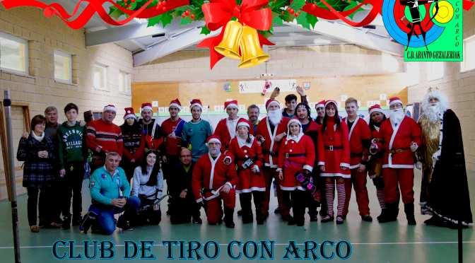 El Club Deportivo de Tiro con Arco Abanto Gezaleriak en Navidad.