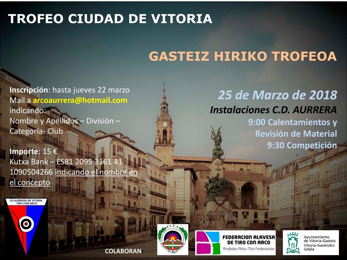 Trofeo Ciudad de Vitoria- 1ª Liga vasca Aire libre 2018